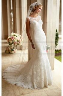 wedding photo - Stella York Low illusion Back Wedding Dress Style 6125