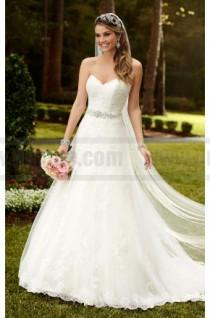 wedding photo - Stella York Satin A-Line Princess Wedding Dress Style 6133