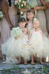 wedding photo - flower girl dress, flower girl dresses, tutu dress, champagne dress, toddler dress, child dress, baby dress, birthday dress, baptism dress