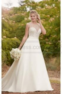 wedding photo - Essense of Australia Traditional Ball Gown With Embellished Boat Neck Style D2293