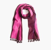 wedding photo - Brushed silk striped scarf
