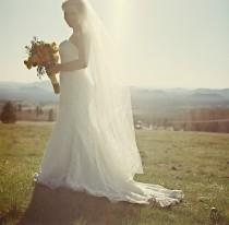 wedding photo - Wedding Veil, Bridal Veil, Traditional Wedding Veil in White, Diamond White, Ivory and more-- Tulle Bridal Veil