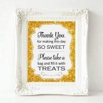 wedding photo - Gold Sparkle Candy Bar Sign, PRINTABLE Candy Buffet Sign, Sweets Table, Candy Bar, Bridal Shower, Baby Shower, Wedding Sign, Top Seller