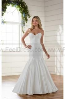 wedding photo - Essense of Australia Chic And Simple Strapless Fit And Flare Wedding Dress Style D2216