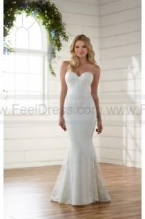 wedding photo - Essense of Australia Sexy Embroidered Lace Wedding Dress Style D2203