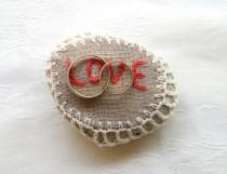 wedding photo - Natural Wedding Favors Inspirational Wedding Decor, Romantic Decor, Ring Bearer Pillow Alternative, Shabby chic Stone, Love,Stone