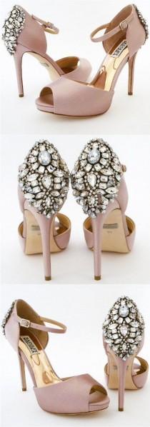 Badgley Mischka Dawn Embellished Satin Ankle Strap High-Heel Pumps TdwumWlHY