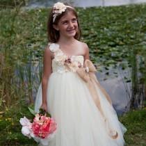 wedding photo - Flower Girl Dress, Flower Girl Dresses, Burlap Tutu Dress, Baby Tutu Dress, Birthday, Weddings, Wedding