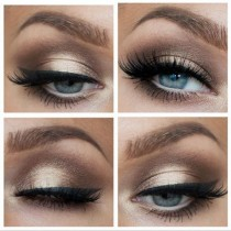 wedding photo - smokey eye
