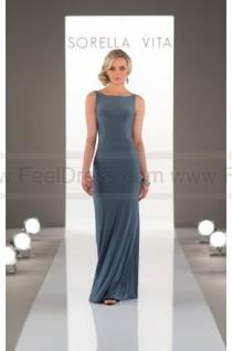d15950bde87 wedding photo - Sorella Vita High-Neck Sheath Bridesmaid Dress Style 8880