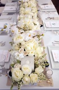 wedding photo - White Floral Decor