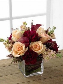 wedding photo - Burgundy And Blush Flowers