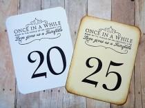 wedding photo - Fairytale Wedding Table Numbers Vintage Style or Black and White