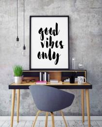 wedding photo - Good Vibes Only, Inspirational Quote Print, Printable Art, INSTANT DOWNLOAD, Modern Home Decor, Motivational Wall Print, Inspiring quotes