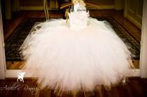 wedding photo - FULL LINED!!! White Sparkle Ballgown Tutu Dress With FREE Headband: White Sparkle Glitter Wedding Costume Pageant Recital Tutu Dress