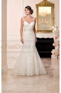 5d44520eab4 Stella York Fit And Flare Wedding Dress With Embroidered Lace Style 6238