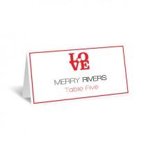 wedding photo - Wedding Place Card Template - LOVE Heart Foldover Printable Escort Card Editable PDF Template - Avery 5302 - Adobe Reader - DIY You Print