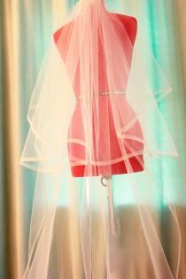 wedding photo - HorseHair Wedding Veils, 1/2 Inch Horsehair Veil, Cathedral Veil, Satin Edge Veil, Pink Veil, Blusher Veil, Veil, Ivory Veil handmade in USA