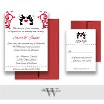 wedding photo - Mickey and Minnie Wedding Invitations, Disney Weddings, Fairytale Wedding Cards - DEPOSIT
