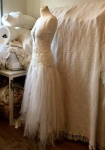 wedding photo - Boho lace wedding dress , unique Bridal gown,lace statement wedding dress,handmade wedding dress,fantasy fairytale dress,bridal gown,boho we