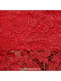 wedding photo - Fur trim long sleeve red lace winter cheongsam Chinese wedding mermaid dress - Cntraditionalchineseclothing.com