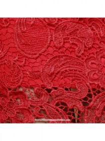 wedding photo - Fur trim long sleeve red lace winter cheongsam Chinese wedding mermaid dress - Cntraditionalchineseclothing.com