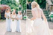 wedding photo - Middleton Lodge Outdoor Pastel Wedding With Preloved Jenny Packham