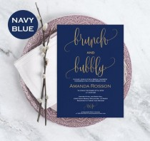 wedding photo - Brunch & Bubbly Bridal Shower Template