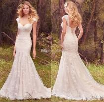 wedding photo - New Arrival 2017 Sexy Sweetheart Wedding Dresses Detachable Cap-sleeves Mermaid Beading Lace Applique Wedding Dress Bridal Gowns Lace-up Lace Luxury Illusion Online with $165.72/Piece on Hjklp88's Store