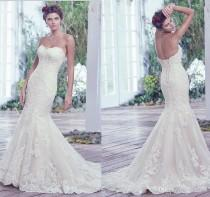 wedding photo - New Arrival 2017 Sexy Sweetheart Wedding Dresses Tulle Lace Applique Mermaid Wedding Dress Bridal Gowns Lace-up Lace Luxury Illusion Online with $160.0/Piece on Hjklp88's Store