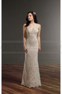 wedding photo - Martina Liana All Over Lace Wedding Dress With Low Back Style 854