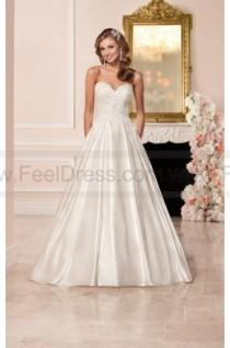 wedding photo - Stella York Satin Wedding Dress With Sweetheart Neckline Style 6306
