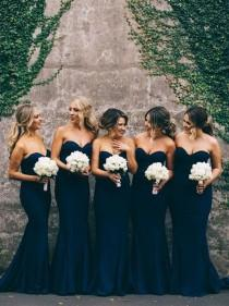wedding photo - Elegant Sweetheart Bridesmaid Dress