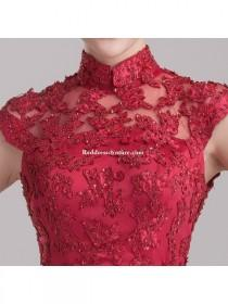 wedding photo - Chinese Wedding Gown Modified Cheongsam Prom / Homecoming Dress Prom Dresses - Reddresscouture.com