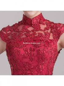 wedding photo - Chinese Wedding Gown Modified Cheongsam Prom / Homecoming Dress Prom Dresses - Reddresscouture.com