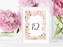 wedding photo - Wedding table numbers Printable
