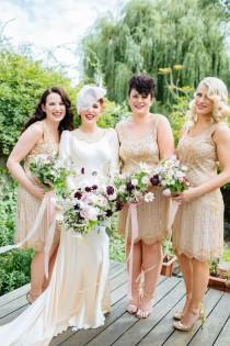 wedding photo - The Prince Albert Wedding Venue In Camden With An Abigail's Vintage Gold Bridal Gown