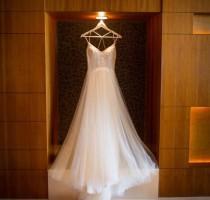 wedding photo - Simple Bridal Gown, Boho Chic Wedding Dress, Low Back Wedding Dress, Sleevless Wedding Dress, simple wedding dress