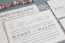 wedding photo - Champagne Gold Wedding Invitation
