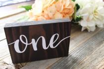 wedding photo - Rustic Wedding Table Numbers