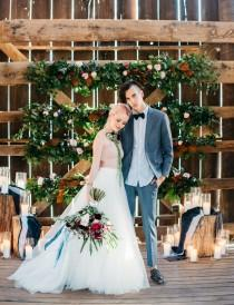 wedding photo - Indigo 'Wild Love' Barn Wedding Inspiration