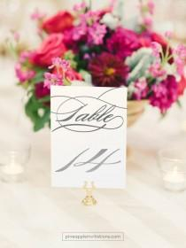wedding photo - Burgues Silver Foil Table Numbers - Silver Table Number Cards - One Sided - Wedding Table Numbers with Silver Foil