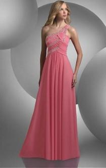 wedding photo - Simple Long Pink Tailor Made Evening Prom Dress (LFNAL0434) cheap online-MarieProm UK