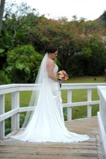 wedding photo - Bridal veil - Elegant Chapel Length