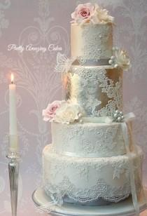 wedding photo - Beautiful Silver Cake