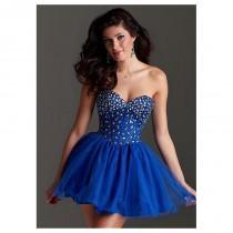 wedding photo - Charming Satin & Tulle Sweetheart Neckline A-Line Homecoming Dresses - overpinks.com