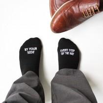 "wedding photo - Father of the Bride Wedding Socks -""By Your Side Every Step of the Way"" - Sentimental Wedding Gift for Dad"