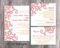 wedding photo - DIY Bollywood Wedding Invitation Template Set Editable Word File Instant Download Printable Red Invitation Indian invitation Bollywood party