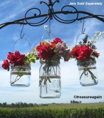 wedding photo - DIY Vase Hangers Wide Mouth Mason Jar Wedding Flower Frog LIDS, Ball Canning Jar Flower Vase Lids Only