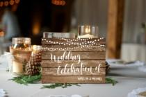 wedding photo - Printed Card - Digital Printable Files - Double-sided Farm Country Wedding Rustic Wood Lights Wedding Invitation RSVP Thank You Set - ID674